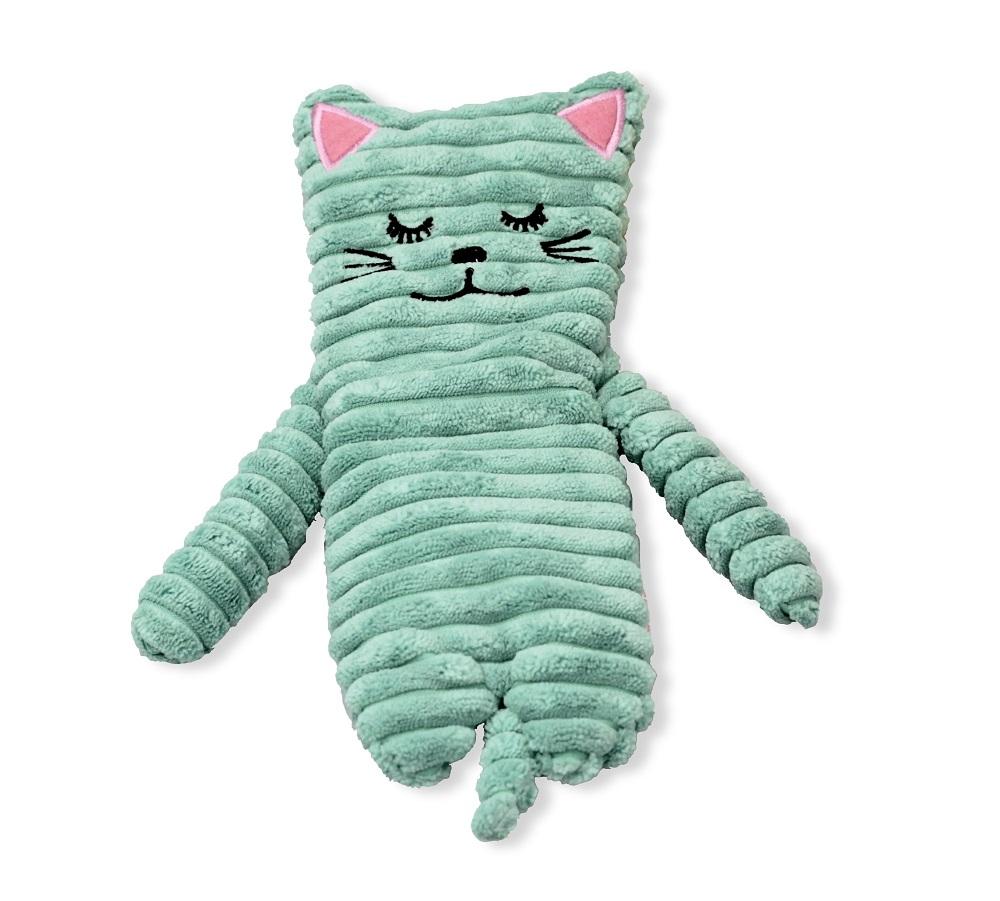 Extrem Wärmetier Katze türkis mit Wärmekissen - Füllung mit Keramikperlen IN17