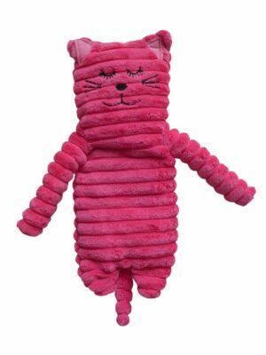 Wärmetier Katze pink, schmal mit Wärmekissen ohne Getreidefüllung mit Keramik