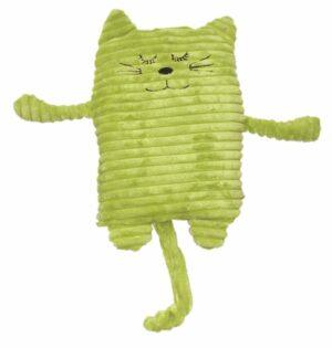 Wärmekissen Katze grün - Wärmetier, Füllung mit Keramikperlen oder Hirse und Lavendel