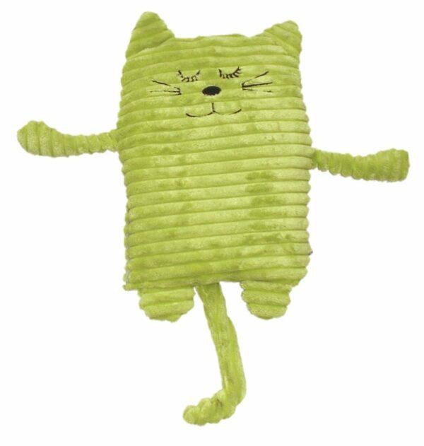 Top Wärmekissen Katze grün - Wärmetier, Füllung mit Keramik oder Hirse WC16