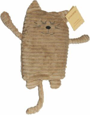 Wärmekissen Katze hellbraun Wärmetier - Füllung mit Keramikperlen oder Hirse und Lavendel