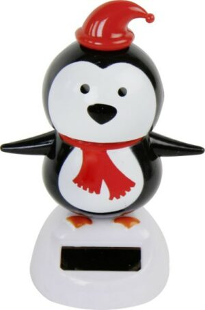 Solarbetriebener Weihnachtspinguin, ca. 10,5 cm - Wackel Pinguin Solar