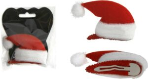 Haarclip Weihnachtsmütze Haarschmuck + Weihnachtsdeko 878907_1