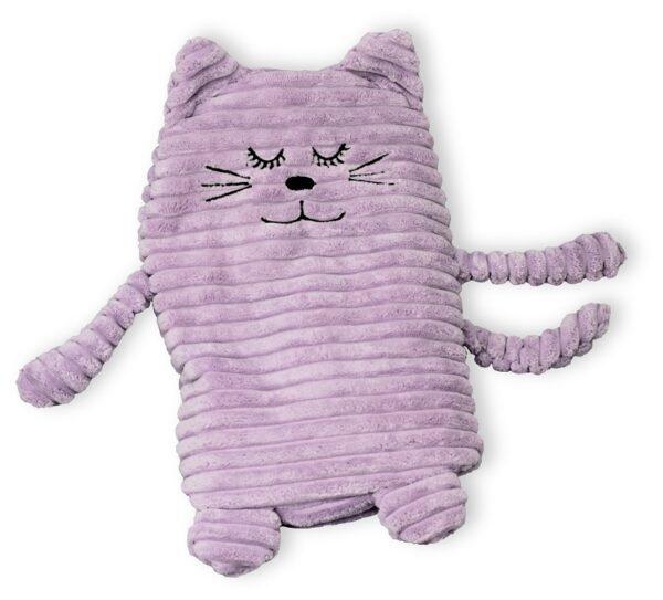 Wärmetier Katze grau mit Wärmekissen - Füllung mit Keramikperlen oder Hirse und Lavendel
