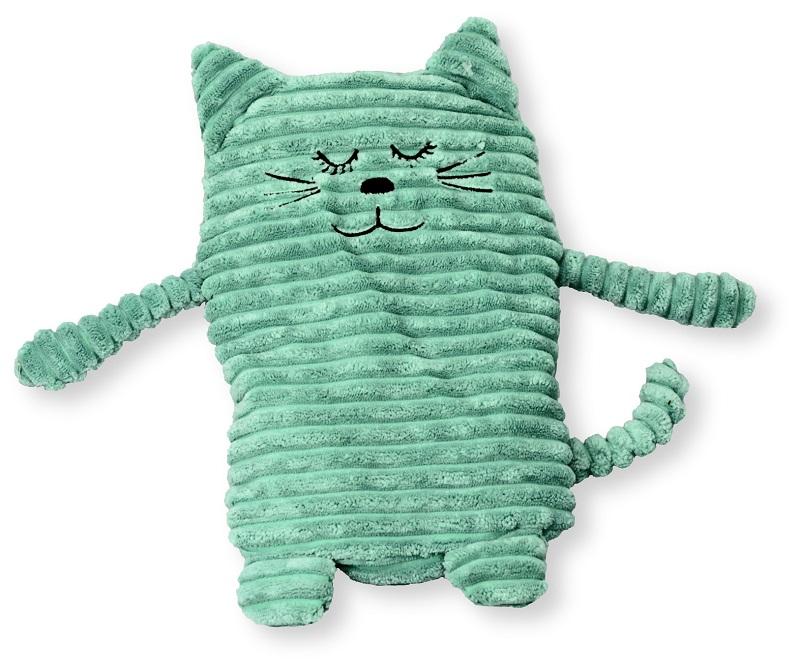 Top Wärmetier Katze türkis mit Wärmekissen - Füllung mit Keramikperlen MY87