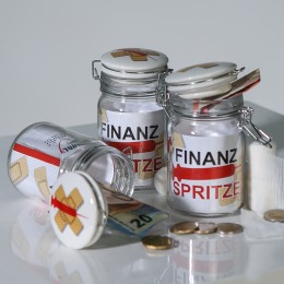 "Friendly-Glas ""Finanzspritze"""