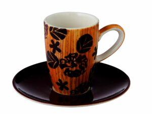 Mila Espresso-Set Wild Flowers - Tasse mit Untertasse - Mokka Tassen