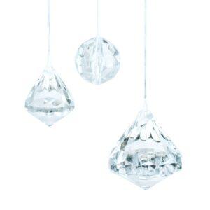 Deko Kristalle zum Aufhängen - Kugel 20mm, Kegel 23mm und Kegel 30mm