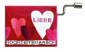 Hochzeit Drehorgel - Räder Poesieorgel HOCHZEITSMARSCH - Musikbox Spieluhr