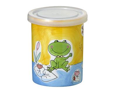 Mila Vorratsdose Frosch Teichromanze - Keramikdose mit Kunststoffdeckel