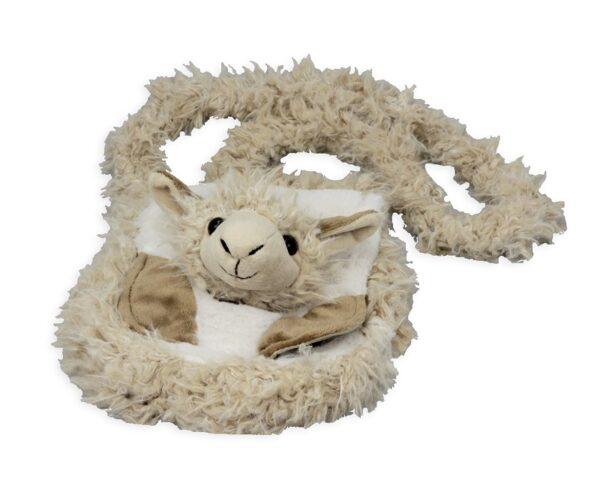 Kindergartentasche Lama hell - Alpaka Kamel Kuscheltasche Tier Plüsch