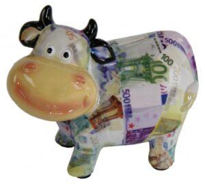 Spardose Euro Kuh