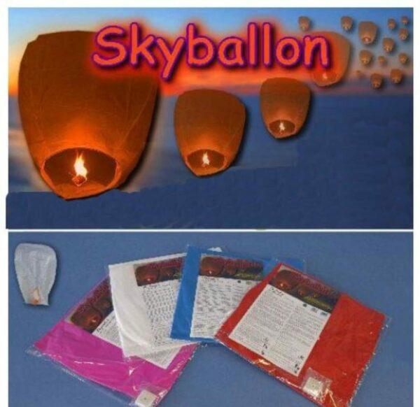 chin. Himmelslaterne - Skyballon - Himmelslampion - Fluglaterne - Glücksballon
