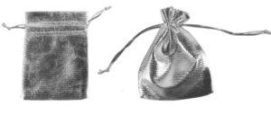 Organzabeutel silber - Organzasäckchen mit Kordelzug - Schmuckbeutel Säckchen Organza silber