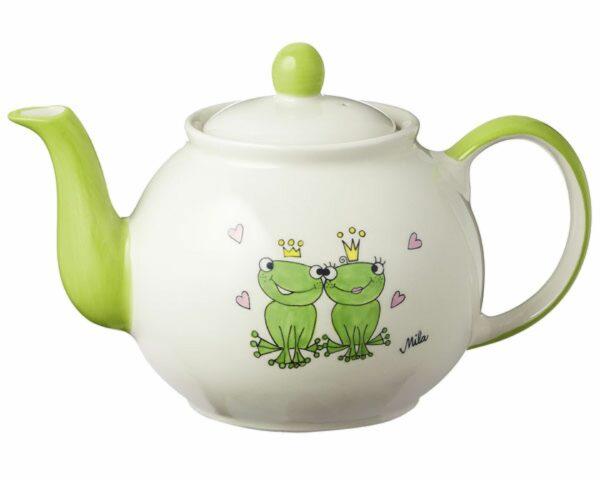 Mila True Love Kanne 1,2L - Teekanne Froschkönigspaar - Keramik