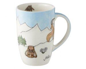 Mila Alpenblick Becher - Alpen Designbecher 230 ml - Kaffeebecher Berge