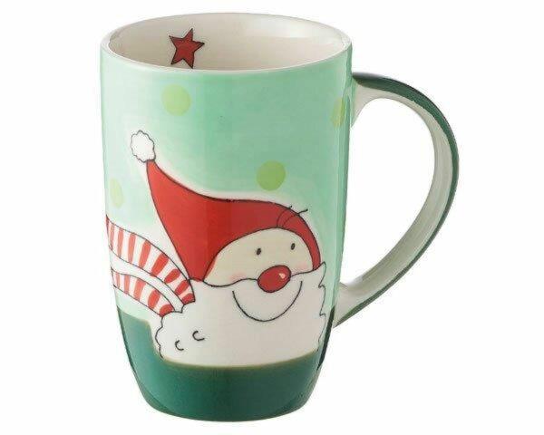 Mila Santa Designbecher 320 ml - Weihnachtsbecher Keramik - Weihnachtsmann