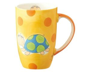 95356 Mila Herr Schulz Designbecher - 230 ml - Schildkröten Becher - Henkelbecher - Keramik - Mugs - Teebecher - Kaffeebecher