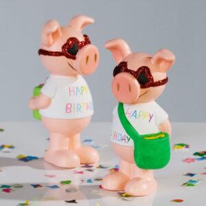 Geburtstags Glücksbringer  Geburtstagsschwein Glücksbringer Schwein cool