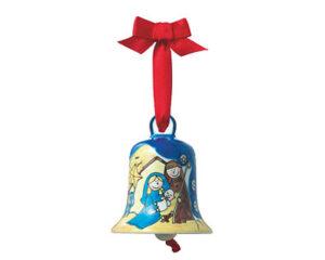 Mila Glocke Krippe, groß - Weihnachtsglocke aus Keramik in Geschenkverpackung