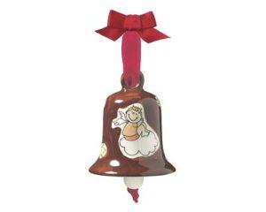 Mila Engel & Bengel Glocke, groß - Keramik Weihnachtsglocke Schutzengel