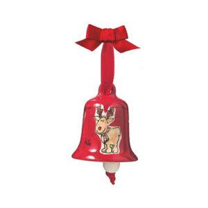 Gustav der Elch - Mila Glocke - Weihnachtsglocke aus Keramik in Geschenkverpackung