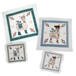 Magisches Handtuch Lama - Zauberhandtuch Baumwolle