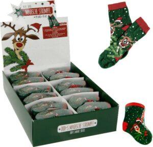 Magische Socken Elch Didi - Zauber Weihnachtstrümpfe Rentier Gr. 27-34