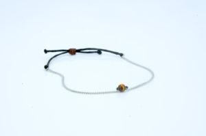 Tigerauge Armband - minimalistisches Armband Edelstein