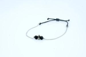 Dalmatiner Jaspis Armband - minimalistisches Armband Edelstein