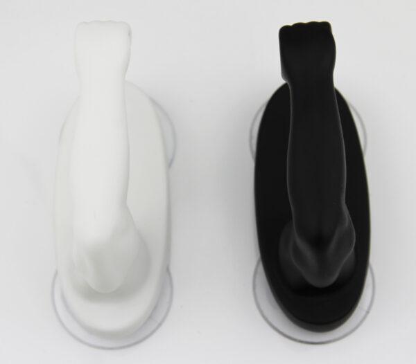 Armstrong Handtuchhalter mit Saugnapf für Küche Bad WC - Halterung schwarz weiß