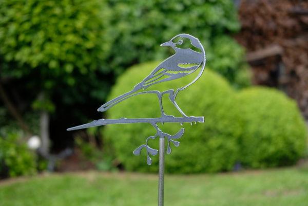 Bachstelze Gartendekoration Metall Vogel Stecker - Baumstecker Glücksvogel GartensteckerXT204776