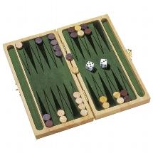 Backgammon Holz Spiel im Klappkasten