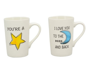 Becher Liebesspruch - Porzellan - You´re a star Becher I love you to the moon and back 233008_s