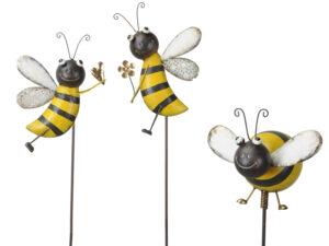 Beetstecker Biene am Stab – Hummel Gartenstecker