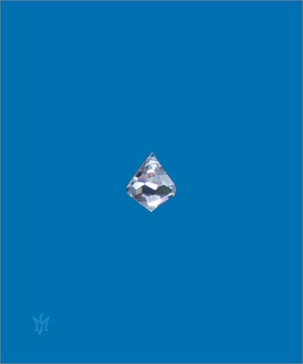 Bleikristall Prisma Kegelform 20 mm - Kristallkegel am Perlonfaden (80cm) 12688