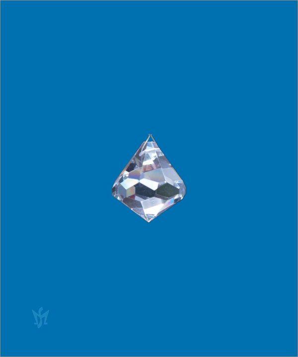Bleikristall Prisma Kegelform 30 mm - Kristallkegel am Perlonfaden (80cm)