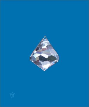 Bleikristall Prisma Kegelform 40 mm- Kristallkegel am Perlonfaden (80cm) 826