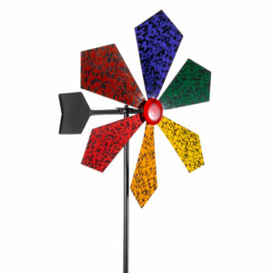 Buntes Metall Windrad mit Windrichtungsanzeiger - Windrad Speckled Rainbow - cm 60908 Windrad