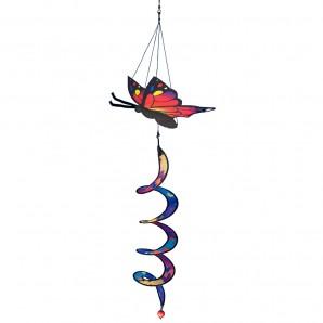 Windspiel Butterfly Twister - Schmetterling mit Spirale zum Aufhängen