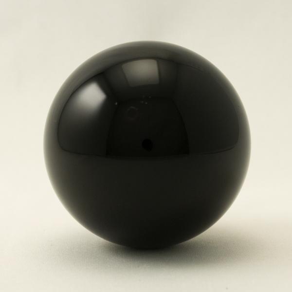 Glaskugel schwarz 5cm, Zubehör Ersatzteil für unsere Edelstahlwindspiele, Mobile, Spirale, Gartenpendel - Ersatzkugel CM50025