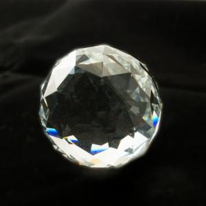 Regenbogenkristall Kristallkugel FACETT transparent - Zubehör für unsere Edelstahlwindspiele Mobile Spirale - Ersatzkugel