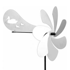 Ventura Enten Windspiel Edelstahl Windrad mit Windrichtungsanzeiger 360 ° drehend - Made in Germany - Indoor - Outdoor - wartungsfrei