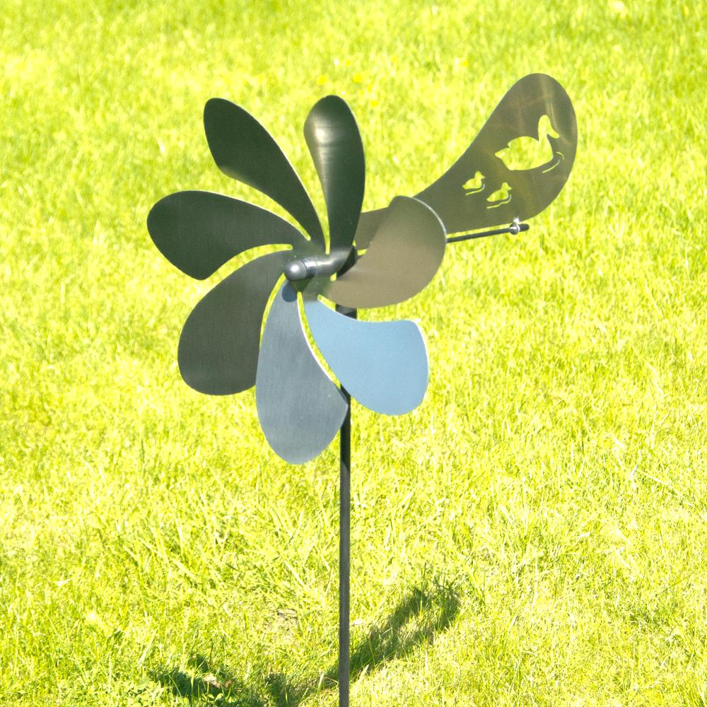 gartenstecker windspiel edelstahl, ventura enten - orbit windspiel edelstahl windrad mit windrichtung, Design ideen
