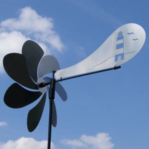 Ventura LEUCHTTURM - Orbit Windspiel Windrad Edelstahl CM60033_jet Aero Edelstahl Windspiel Propeller Kugellager Gartenstecker Orbit Ventura Leuchtturm Maritim
