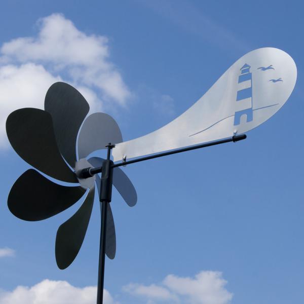Ventura Leuchtturm Windspiel Orbit Windrad Edelstahl Mit