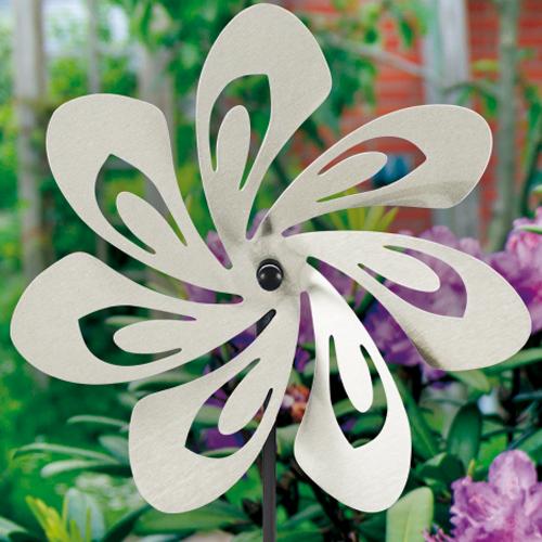 Edelstahl Windrad Blume 28 Transparent - Orbit Flower Windspiel Blüte - Made in Germany - Indoor - Outdoor - wartungsfrei