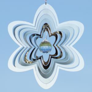MIRROR CRYSTAL FLOWER 200 - magische Blume Edelstahl Mobile - Windspiel - Indoor - Outdoor