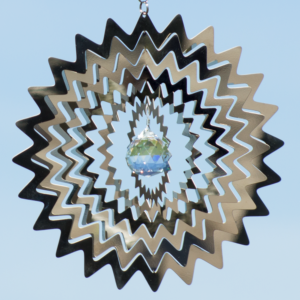 MIRROR CRYSTAL Star 200 - magische Edelstahl Mobile - Windspiel - Indoor - Outdoor