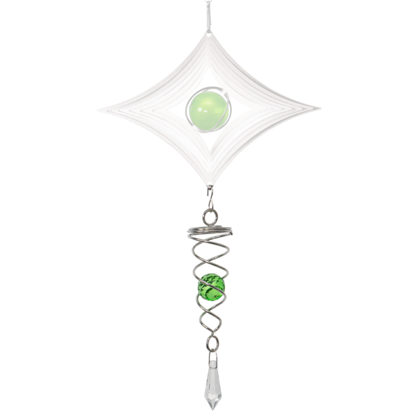 LITTLE CRYSTAL TWISTER green- magische Kugel Spirale - Mobile - Windspiel - Indoor - Outdoor